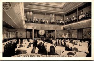 New York City Ruby Foo's Den Chinese Restaurant
