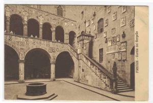 Cortile del Bargello Firenze Italy 1910c postcard