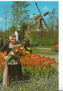 The Netherlands Postcard - Holland in Flower Decoration - Ref 20685A