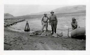 Sturgeon Caught in Snake River Idaho? July 7, 1946, Photo Only
