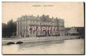 Old Postcard Verdun Military Circle