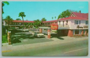 St. Augustine Florida~Monterey Court~Motel~Neon~50s Cars~Palm Trees~1950s