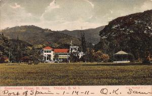 Govern House, St. Anns., Trinidad, British West Indies, Early Postcard, Used
