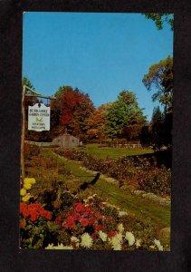 MA Berkshire Garden Center West Stockbridge Mass Massachusetts Postcard Flowers
