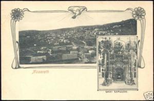 palestine israel NAZARETH Panorama, Saint Sepulcre 1899