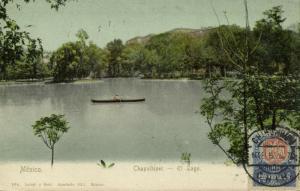mexico, CHAPULTEPEC, El Lago (1907) Stamp
