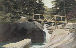 WHITE MOUNTAINS , New Hampshire, PU-1908; Basin-Pemigewasset River, Bridge, TUCK