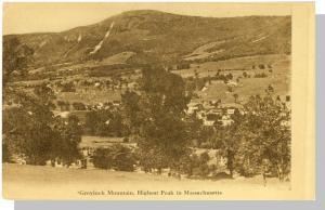 Early North Adams, Mass/MA Postcard, Greylock Mountains