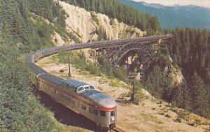 Canada Canadian Pacific Dome Train Crossing Stoney Creek Bridge