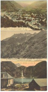 pc646 postcard Luchon France THREE not used