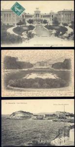 france, MARSEILLE, 3 Old Postcards, Cattalans Longchamp