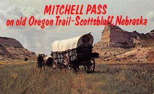 Scotts Bluff NE~Conestoga Wagon Reenacts Oregon Trail Ride @ Mitchell Pass 1950s