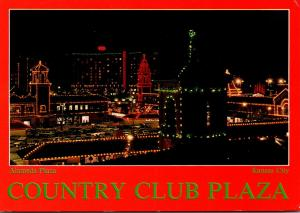 Missouri Kansas City Country Club Plaza Alameda Plaza At Night