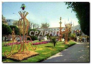 Postcard Moderne Menton Garden
