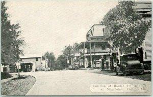 Monroeton, Pennsylvania Postcard AVERY'S LUNCH / Esso Gas Station c1940s Unused