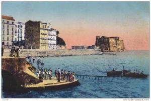 Via Partenope Con Castello Dell' Ovo, NAPOLI (Campania), Italy, 1900-1910s