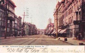 Lackawana Ave Looking East, Scranton, Pennsylvania, Early Postcard, Used in 1907