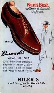 Advertising Nunn-Bush Shoes Hiler's Ionia Michigan