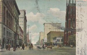 DAYTON, Ohio, PU-1907; Main Street North from Fifth Street, TUCK # 2195