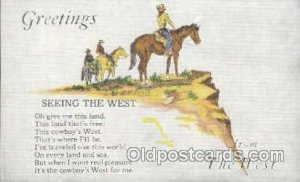 Greetings Western Cowboy Unused