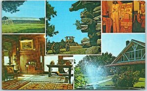 Pawnee, Oklahoma Postcard Several View of PAWNEE BILL RANCH Chrome Dated 1972