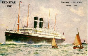 Red Star Line - Steamer Lapland.  Artist: Dixon