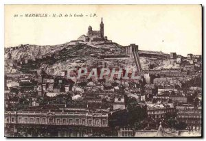 Old Postcard Marseille N D of the Guard