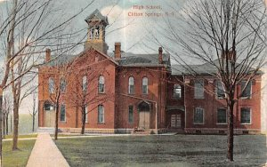 High School Clifton Springs, New York Postcard