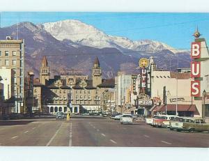 Unused Pre-1980 SHOPS ALONG STREET Colorado Springs CO hn0744