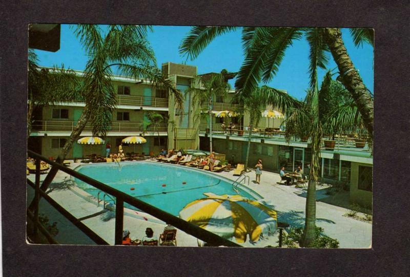 Fl Bilmar Beach Resort Treasure Island Florida Postcard Pool View
