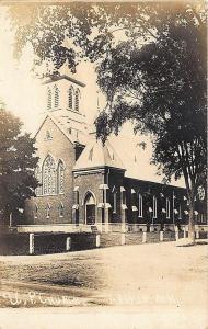 Argyle NY United Presbyterian Church Real Photo Postcard
