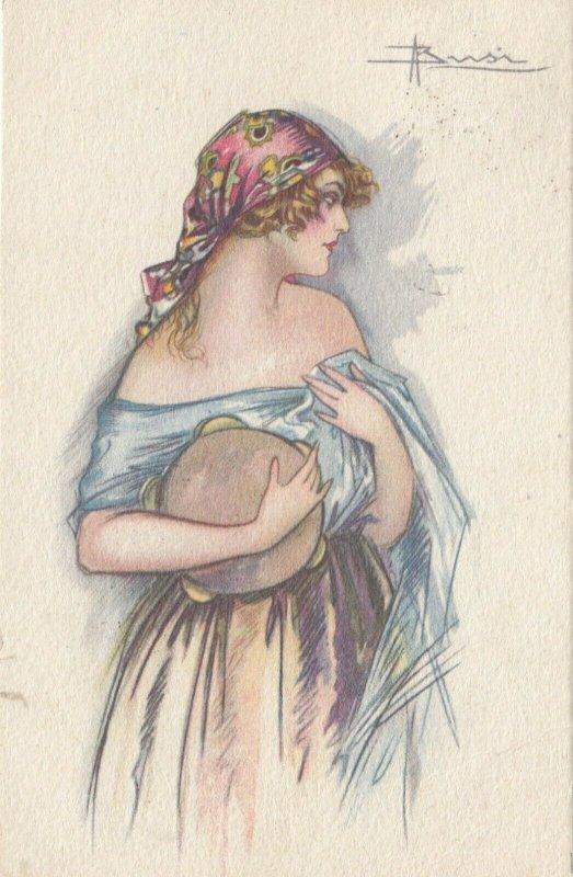 ART DECO ; BUSI ; Girl with a Tambourine #1 , PU-1922