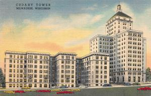 Cudahy Tower, Milwaukee, Wisconsin, Early Linen Postcard, Unused