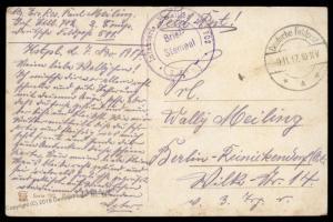 Germany Offices Turkey 1917 FPN511 Inf Batl 702 Feldpost Cover 90401