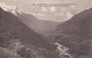 France Chamonix Mont Blanc Vus du Chalet du Chapeau Mer de glace