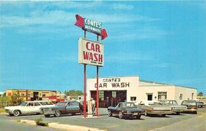 Long Branch NJ Conte's Car Wash Corvette Postcard