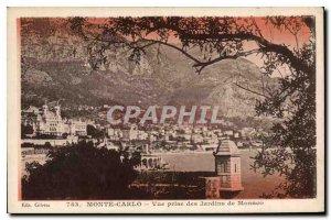 Old Postcard Monte Carlo View taken Gardens Monaco