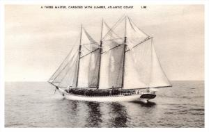 7265  Three Master Sailing Schooner with Cargo of Lumber