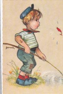 AS: Bonnie, Little Sailor Boy Fishing, Fish Jumping Out of Water, 30-50´s