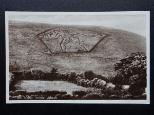 Dorset THE GIANT Cerne Abbas - Old RP Postcard by L.& M. Shutler