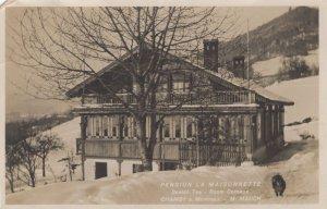 Chamby Montreux Pension La Maisonette Scotch Tea Swiss Postcard