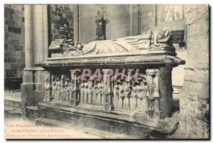 Old Postcard St Bertrand de Comminges Tomb of Hugues de Castellionne