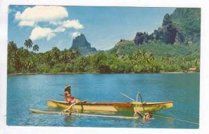 Harpoon Fishing, TAHITI, 1950s