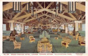D67/ Yellowstone National Park Postcard c'10 Haynes Grand Canyon Hotel Lounge 14