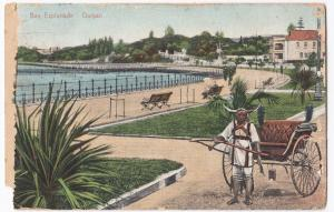 South Africa; Bay Esplanade, Durban PPC 1911 PMK to GB, Redirected