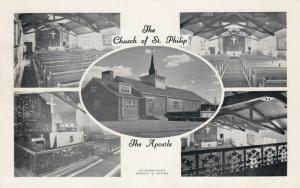 TORONTO , Ontario, Canada, 40-50s; 5-Views, Church of St. Philip The Apostle