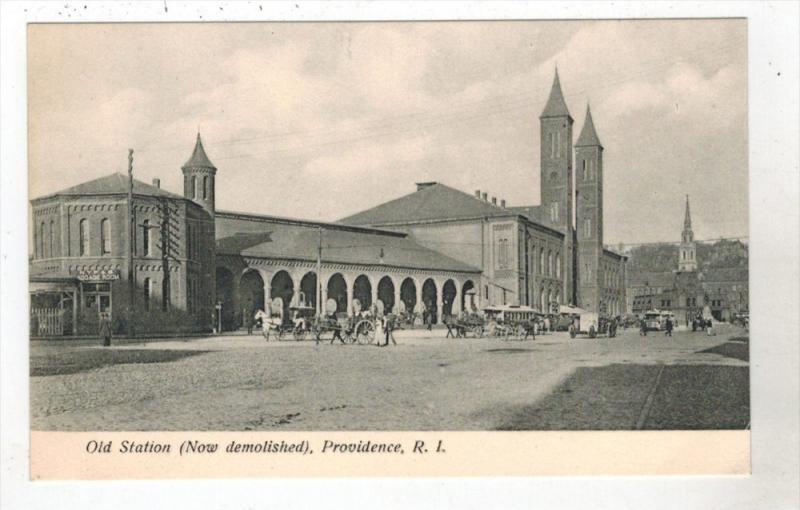 Rhode Island Providence  Original Union  R.R. Station