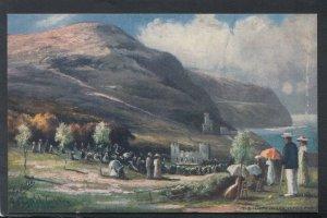 Wales Postcard - Artist View of The Happy Valley, Llandudno    T9973