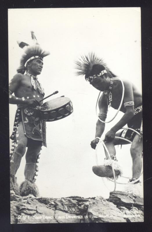 RPPC ALBUQUERQUE NEW MEXICO INDIAN HOOP DANCE SW PC CO REAL PHOTO POSTCARD