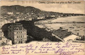 CPA   Cannes - Le cours vue prise du Mont Chevalier (514073)